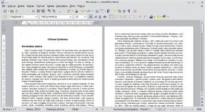 Tekst przedsformatowaniem strony tytułowej iwstawieniem spisu treści