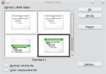 Okno Projekt slajdu, dostępne są nowe wzorce