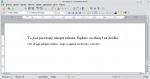 Okno programu Writer z dwoma akapitami sformatowanymi na różne sposoby