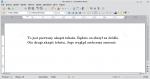 Okno programu Writer z dwoma akapitami sformatowanymi na ten sam sposób