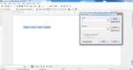 Okno programu Writer z tekstem . Wykorzystane wyrażenie regularne zaznaczyło cały tekst.
