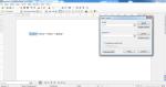 Okno programu Writer z tekstem . Wykorzystane wyrażenie regularne zaznaczyło tylko pierwszy wyraz.