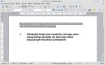 Okno programu Writer przedstawiające dokument z bardzo długim tytułem wstawionym do główki strony