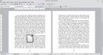 Okno programu Writer przedstawiające tekst i obraz. Obraz został wyśrodkowany. Tekst znajduje się po jego lewej i prawej stronie, jak również pod obrazem. Obraz zdaje się unosić nad tekstem.