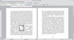 Okno programu Writer przedstawiające tekst i obraz. Obraz został wyśrodkowany. Tekst znajduje się zarówno po jego lewej, jak i prawej stronie.