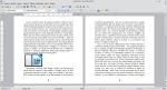 Okno programu Writer przedstawiające dwa obrazy; obraz po prawej stronie przykrywa obraz po lewej stronie.