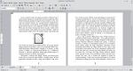 Okno programu Writer przedstawiające obrazek umieszczony na samym środku strony. Nad nim i pod nim znajduje się tekst.