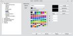 Okno edycji palety kolorów znajduje się wopcjach pakietu LibreOffice