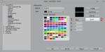 Okno edycji palety kolorów zzaznaczonymi elementami, które trzeba wcisnąć, aby usunąć istniejący kolor
