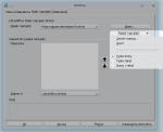 Okno modyfikowania pasków narzędziowych, zaznaczono listę pokazującą się pokliknięciu Pasek narzędzi