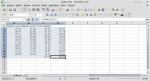 Okno arkusza kalkulacyjnego. Po zamianie formatu, komórki sumowania (C12 i D12) zawierają wyniki niezgodne z oczekiwaniami.