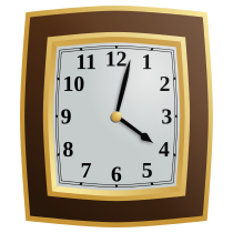 "Praca z czasem w LibreOffice Calc - thumbnail (image: ""Clock"" by Caig; licensed as public domain; URL: http://openclipart.org/detail/166670/clock-by-caig)"