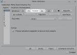 """Okno modyfikacji właściwości automatycznie generowanego spisu treści, karta """"Wpisy"""". W polu pomiędzy ikonami """"PH"""" a """"W#"""" wprowadzono tekst """"Rozdział """"."""