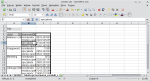 Okno programu Calc. Kursor myszy znajduje się nad szarym polem w tabeli przestawnej