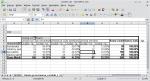 Okno programu Calc zawierające tabelę przestawną