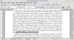 Okno programu Writer. Wstawiony odsyłacz pokazuje błąd nieznalezienia źródła odwołania.