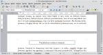 Okno programu Writer. Na drugiej stronie znajduje się ramka zakotwiczona do strony.