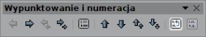 """Przycisk resetujący numerację wyliczenia jest drugi odprawej naliście """"Wypunktowanie inumeracja"""""""