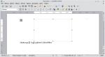 Okno programu Writer. Ramka tekstowa jest zaznaczona. Grafika nie jest widoczna.