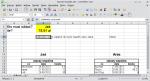 """Okno LibreOffice Calc. W komórkach C4:F4 wpisano: """"całkowity rachunek"""", """"ile zapłacił Jaś?"""", """"część wspólna rachunku"""", """"część Jasia rachunku"""". W komórce H4 wpisano """"Bilans""""."""