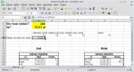 """Okno LibreOffice Calc. W komórce A6 wpisano formułę JEŻELI(H5>0;""""Dopisz do pożyczki Jasia"""";""""Dopisz do pożyczki Ani""""). Wyświetla się pierwszy z wyników. W komórce C6 wprowadzona jest wartość absolutna komórki H5 (wyniku równania)."""